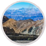 Round Beach Towel featuring the photograph Mosaic Canyon Picnic by Stuart Litoff