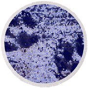Mosaic Pawprints Round Beach Towel