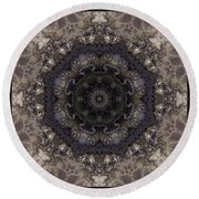 Mosaic Tile / Gray Tones Round Beach Towel by Elizabeth McTaggart