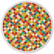 Mosaico Round Beach Towel by Sharon Turner