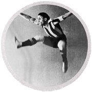 Moscow Opera Ballet Dancer Round Beach Towel by Underwood Archives