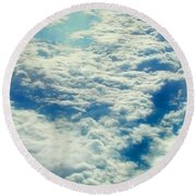 Round Beach Towel featuring the photograph Mostly Cloudy by Mark Greenberg