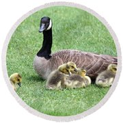 Mother And Young Round Beach Towel