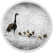 Mother Goose Round Beach Towel