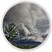 Mother Nature Showing Off V2 Round Beach Towel by Tom Culver