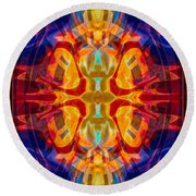 Mother Of Eternity Abstract Living Artwork Round Beach Towel