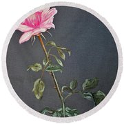 Mothers Rose Round Beach Towel