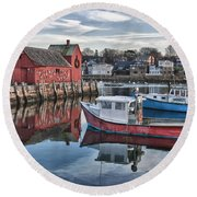 Motif 1 Sky Reflections Round Beach Towel