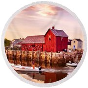 Motif Number One Rockport Massachusetts  Round Beach Towel