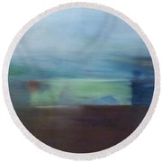 Motion Window Round Beach Towel