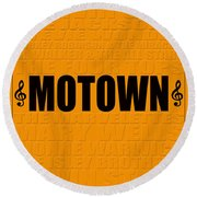 Motown Round Beach Towel