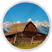Moulton Barn Round Beach Towel by Dany Lison