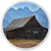Moulton Barn Round Beach Towel by Tricia Marchlik
