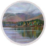 Mount Chocorua And Chocorua Lake New Hampshire Round Beach Towel