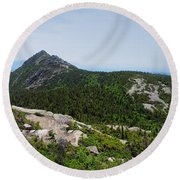 Mount Chocorua From The Sisters Round Beach Towel