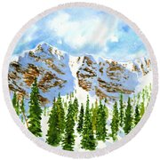 Mount Ogden Round Beach Towel