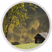 Mount Pisgah Round Beach Towel