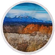 Mount Princeton Round Beach Towel