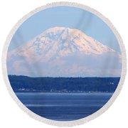 Mount Rainier Round Beach Towel