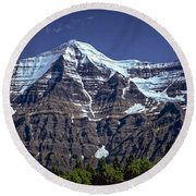 Mount Robson Round Beach Towel