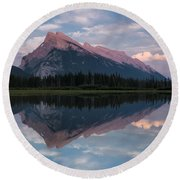 Mount Rundle - Banff National Park Round Beach Towel