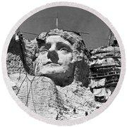 Mount Rushmore In South Dakota Round Beach Towel