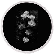 Mount Tacoma Tulips Round Beach Towel