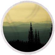 Mount Washburn Mist Round Beach Towel