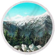 Mount Washington Round Beach Towel