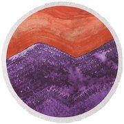 Mountain Majesty Original Painting Round Beach Towel