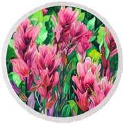 Mountain Meadows' Paintbrush Round Beach Towel