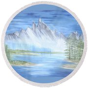 Mountain Mist 2 Round Beach Towel