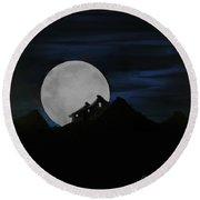 Mountain Monastery Round Beach Towel