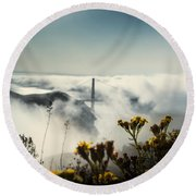 Mountain Of Dreams Round Beach Towel
