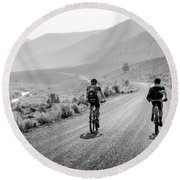 Mountain Riders Round Beach Towel