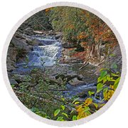 Round Beach Towel featuring the photograph Mountain Splendor by HH Photography of Florida