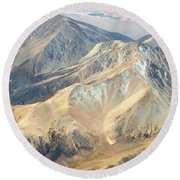 Round Beach Towel featuring the photograph Mountain View 2 by Mark Greenberg