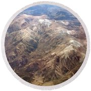 Round Beach Towel featuring the photograph Mountain View by Mark Greenberg