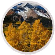 Mountainous Wonders Round Beach Towel