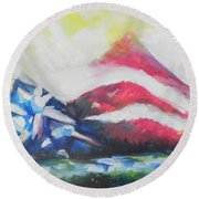 Mountains Of Freedom Two Round Beach Towel