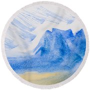 Mountains Tasmania Round Beach Towel