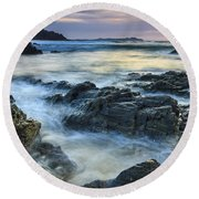 Round Beach Towel featuring the photograph Mourillar Beach Galicia Spain by Pablo Avanzini