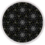 Round Beach Towel featuring the digital art Mourning Weave by Elizabeth McTaggart