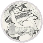 Mournings Past Round Beach Towel