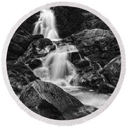 Mouse Creek Falls Round Beach Towel