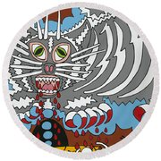 Mouse Dream Round Beach Towel