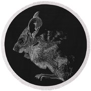 Mouse Round Beach Towel by Lawrence Tripoli