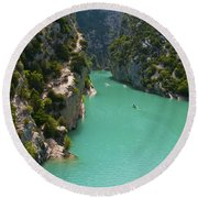 Mouth Of The Verdon River  Round Beach Towel