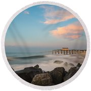 Move Over Moon Round Beach Towel