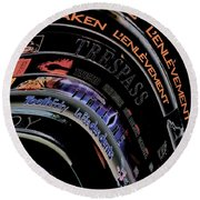Round Beach Towel featuring the photograph Movie Madness by Pennie  McCracken